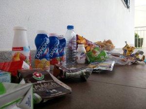 Lixo produzido pelos alunos da turma