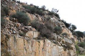 Figura 1 Vestígios da antiga pedreira