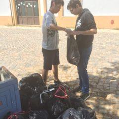 Boas Práticas Ambientais na Escola: Recolha de Resíduos no Espaço Exterior