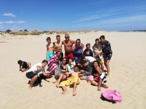Alunos em visita de estudo à praia dos três Pauzinhos. Ecoalunos de VRSA