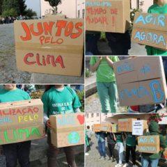 De verde, pela Greve Climática Global