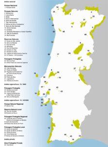 Mapa da Rede Nacional de Áreas Protegidas. Consultado em http://www2.icnf.pt/portal/ap