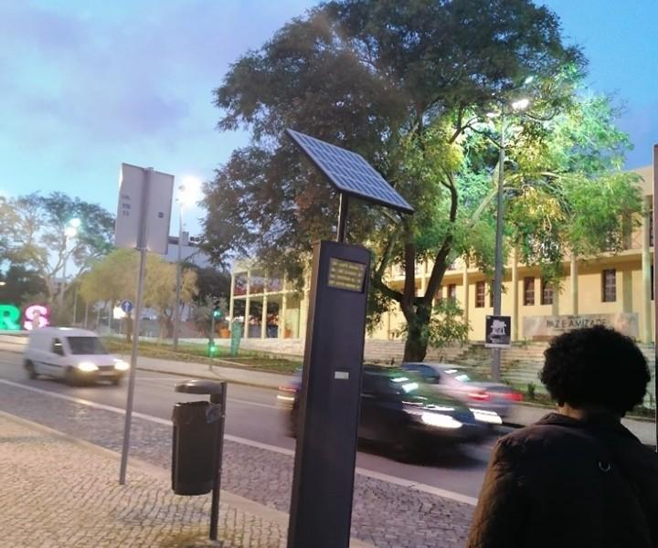 A energia do sol na cidade de Loures