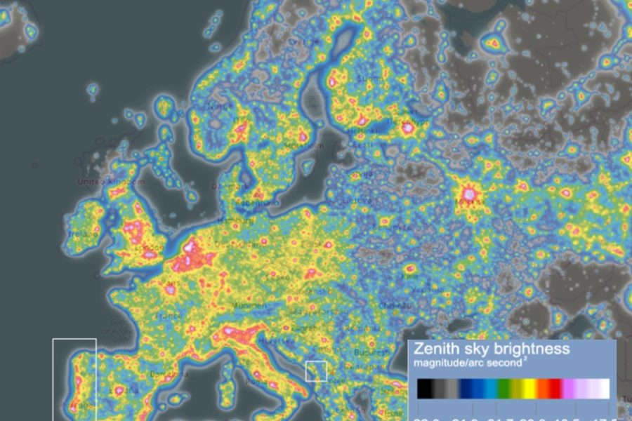 Light pollution in the city