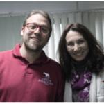 Fig.1- Antonieta Costa, responsável pelo Centro Pedagógico e Tiago Carrilho, biólogo e educador.